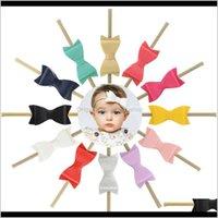 12 adet / grup 3 inç Butik Deri Ilmek Naylon Kafa Elastik Hairbands Çocuklar Küçük Yay Saç Aksesuarları 809 Q SQCFXT QID3R 73M8R