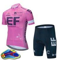 EF Educación First Team Cycling Mangas cortas Jersey 19D Gel Pantalones cortos acolchados Sets Racing Bicycle Maillot Ciclismo MTB Ropa de bicicleta Ropa deportiva H051201