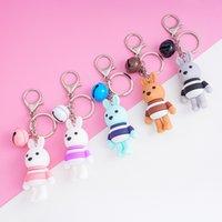 2545 Nette Kaninchenglocke Cartoon Paar Keychain Kreative Autoschlüssel Anhänger Tasche