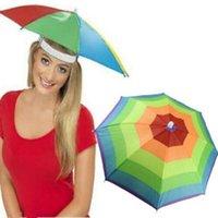 Chapeaux chapeaux portables tête parapluie chapeau pliable pluviomètre pêche anti-pluie anti-soleil adultes adultes enfants extérieurs PESCA Sports Cap