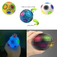 Fidget 장난감 감각 빛나는 창조적 인 마법의 무지개 공 큐브 안티 스트레스 아이 교육 학습 재미 있은 선물 및 성인 압축 해제 장난감 놀람 도매