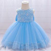 Girl's Dresses SequinedLace Christening Princess WeddingToddler Birthday Party Children Baptism Baby Girl ClothesSummer Vestidos