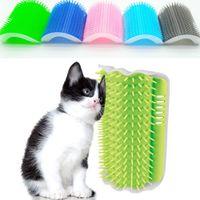 Corner Cat Brush Pet Comb Plastic Scratch Bristles Arch Massager Self Grooming Scratcher Cats Play Toys