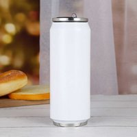 17oz Sublimation Cola 500ml Water Bottle in Bulk Double Walled Stainless Steel Shape Tumblers Insulated Vacuum Sea Shipping Rrb5711