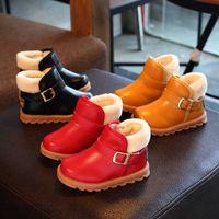 2021 NUEVOS NUEVOS DE INVIERNO Botas de algodón para niños Misos y pequeños Botas cortas para niños Bebe para niñas Bebé de niñas Espesado Snow Snow Zapatos de algodón