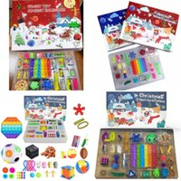 Fidget Toys Party Calendars Christmas 24 Days Countdown Blind Mystery Box Sensory Finger Toy Lucky Boxes Kid Push Bubbles Kids Gift 2864 Y2