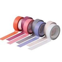 Gift Wrap Grid Washi Tape Paper DIY Planner Adhesive Tapes Stickers Japanse Stijl Briefpapier 5Rolls Dagboek Border Decoration I88