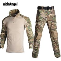 Outdoor Paintball Clothing Military Shooting Uniform Tactical Combat Camouflage Shirts Cargo Pants Elbow Knee Pads Suits Hunting Jac Jackets