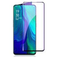 Vollständige Abdeckung Anti Blu-ray-gehärtetes Glas für Oppo Reno 2 Screen Protector 10x Zoom lila Schutzfolie Handy-Protektoren