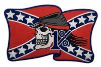 Personnalité Rider gratuit American Rebel Brodé Brodé Moker Back Patch MC Veste Gilet Cuir 1% Bage NHD6444