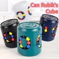 Cubo de Coca-Cola Rubik com top de dedo de caixa Brinquedos Criativos Decompression Creative Diversão Funs pode Magic Bead Gire Girando Intellectual para