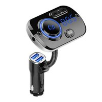 Bluetooth Transmitter Car Aux Audio Adapter FM Radio Handsfree Kit QC 3.0 Fast Charger Wireless Receiver MP3 Player