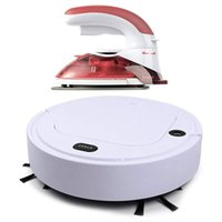 Laundry Appliances 1 Set 4-In-1 Automatic Vacuum Cleaner Sweeper Mop Humidifier & Mini Electric Steam Iron Portable Steamer