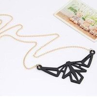 Pendant Necklaces Latest Fashion Hollow Bat Colorful Fluorescent Color Geometric Pattern Long Sweater Chain Jewelry Factory Direct