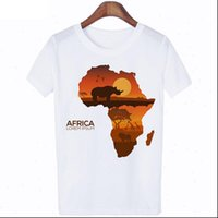 Poleras Women Tops Mujer De Moda Harajuku Womens T shirt Letter African Plate Graphic Casual Hipster