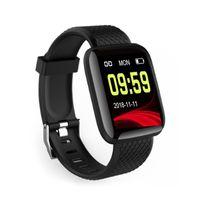 116 Plus Smart Watch Health Wristband Sports watches Blood Pressure Heart Rate Pedometer Fitness Tracker Bracelet Waterproof