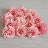Outono Azalea Flor Simulação Pequeno Chá Rosa Cabeça De Casamento De Cabeça Fazendo Europeia Peônia Peça Cabeça De Flor
