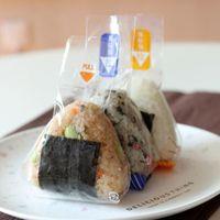 Треугольник рисовой шар упаковки сумка суши инструмент вишневые цветы панды противотуманные мешки легко слеза Onigiri упаковка Y0562