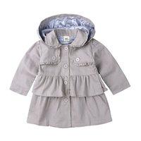Neonate Trench Abbigliamento per bambini Abbigliamento Ragazza Cappotto Giacca per bambini Vestiti Spring Trench Vento Capispalla antipolvere