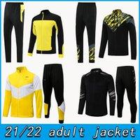21 22 Borussia adulto con cappuccio Giacca con cappuccio Giacca da calcio Piena Zipper Zipper Dortmund 2021 2022 Allenamento Suit Football Set Suite