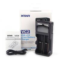 XTAR VC2 CHAGER NIMH 배터리 충전기 LCD 18650 18350 26650 21700 리튬 이온 B ATTERY 2021