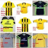 1995 96 97 98 99 2000 01 02 Borussia Retro Dortmund Futbol Forması Lewandowski Reus Metzelder Dede Moller Amoroso Rosicky Bobic Klasik Yetişkin Futbol Gömlek