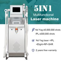 5in1 q commuté nd yag laser machine tatouage tatouage tatouage pigment cicatrice cicatrice thérapie acné ipl Elight réduction de cheveux équipement de réduction des cheveux