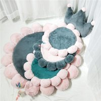 Cushion Decorative Pillow Cute Flower Round Carpet Rug Mat Soft Plush Comfortable Pet Living Room Home Decor Textile Balcony Floor