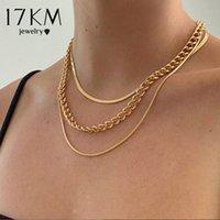 17km Mode Multi-geschichtete Schlangenkette Halskette für Frauen Vintage Gold Münze Perle Choker Pullover Halsketten Party Schmuck Geschenk