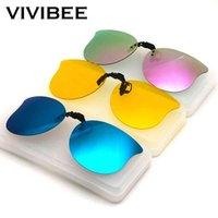 선글라스 Vivibee 고양이 눈 스타일 여성 클립 편광 된 야간에 노란색 UV400 낚시와 안경을 운전하는 낚시 여성 myopic에 대 한 여성