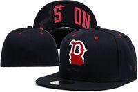 Vendita di modo qualità Red Sox cappelli da uomo per uomo donna hip hop lettera b cappelli da baseball osso completo chiuso chiuso gorra cap