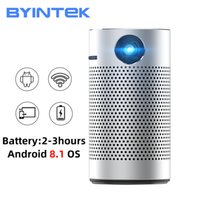 BYINTEK P7 Handy Pocket Pico Pico Smart Android WiFi 1080p 4k TV Mini Micro LED Home Theatre Phone DLP Proyector para el cine