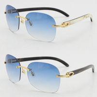 정품 자연 블랙 믹스 화이트 꽃 대리석 버팔로 경적 선글라스 원래 무선 운전 도매 판매 광장 안경 UV400 렌즈 남성과 여성