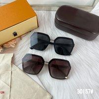 선글라스 안경 30157 액세서리 꽃 색상 선물 상자 맑은 렌즈 0도 디자이너 남자 야외 음영 PC 프레임 패션 클래식 레이디 거울 여성을위한