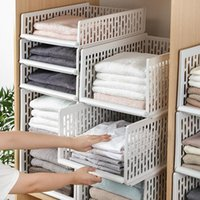 Hooks & Rails Stackable Wardrobe Drawer Units Organizer Clothes Closet Storage Boxes Shelves Plastic Divider Board Cube Toy Container