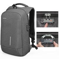 Backpack Kingsons Men Women 15.6 Inches Laptop Anti Theft Bagpack With Lock USB Charging Mini Back Pack Teenager Travel Rucksack