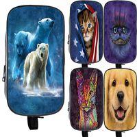 Cosmetic Bags & Cases Kawaii Animal Polar Bear Concion Cat Dog Case Kids 3D Print Pencil Cute Zipper Bag Large Capacity Pen Box