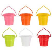 Buckets 6pcs Mini House Bucket Ornament Furniture Fairy Garden Supplies