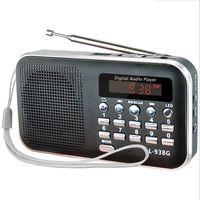 Radio L-938G Pocket Mini Portable FM MP3 Speaker Player Rechargeable Digital Intelligent Search Support TFCard USB