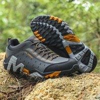Hiking shoes boot 2021 Waterproof Leather Walking Men Sneakers Antislip Outdoor Climbing Sport Senderismo Trekking Shoes Single boots 0914 Running21 topshop999