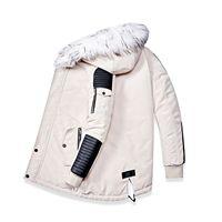 Bolubao Kış Marka Erkekler Parkas Coats erkek Kalın Sıcak Uzun Palto Moda Rahat Patchwork Kapüşonlu Parka Ceket Erkek 201120