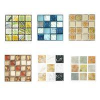 Wall Stickers Mosaic Tile Sticker 3D Pattern Decoration 10x10cm 10pcs Waterproof Kitchen Renovation Wallpaper
