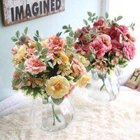 Decorative Flowers & Wreaths 1PCS Simulation Bouquet Camellia Artificial Rose Home Party For Wedding Decoation