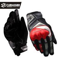 Cuirassirier touchscreen nachtreflektierende motorrad volle fingerhandschuhe schützende racing biker reiten motorrad moto motocross