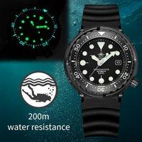 ADDIFIES Dive NH35 300M Montres de plongeur automatique Montre à thon noir Automatique Sapphire Crystal C3 Lumineux 316L Steel Hommes Montres-bracelets