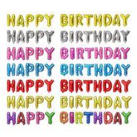16 Inch Globos Happy Set Helium Birthday Party Decoration Alphabet Letter Foil Balloonsd5qf