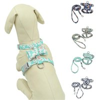 Pet Dog Cat Harnesses Lightweight Vest Polyester Leash Set Japanese Nail I-Shaped Reflective For Small Medium Dogs Chest Strap Collars & Lea