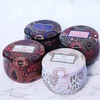 DIY اليدوية المعطرة شمعة جرة فارغة جولة الصفيح يمكن أن الشاي الغذاء الحلوى اللوحي اكسسوارات صندوق تخزين مع غطاء