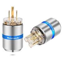 Smart Power Taps MONOSAAUDIO M107G / F107G High Clear Clear 24K Gold Pure Cobre Pure Cobre EE. UU. Conector de CA Conector HIFI Audio DIY Suministro Cable