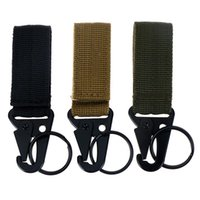 Cords, Slings And Webbing Molle Attach Belt Clip Backpack Strap Quickdraw Clasp Outdoor Carabiner Camp Water Bottle Hanger Tactical Holder H